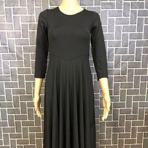 IBTOM CASTLE WMS SZ 2 BLACK POLYESTER DRESS NWT